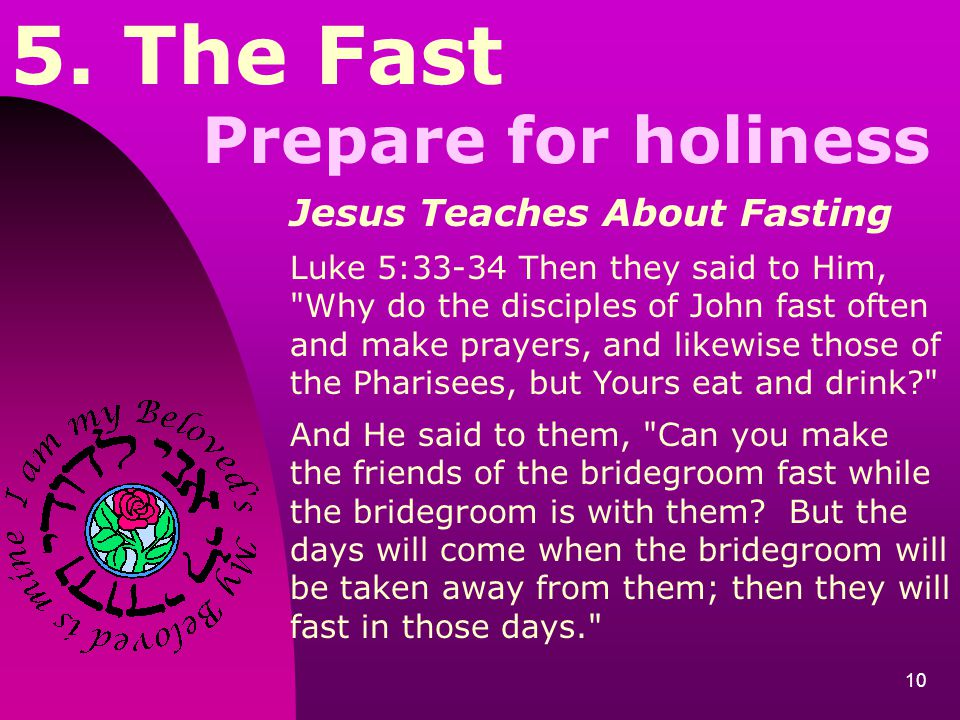 5. The Fast Prepare for holiness Jesus Teaches About Fasting