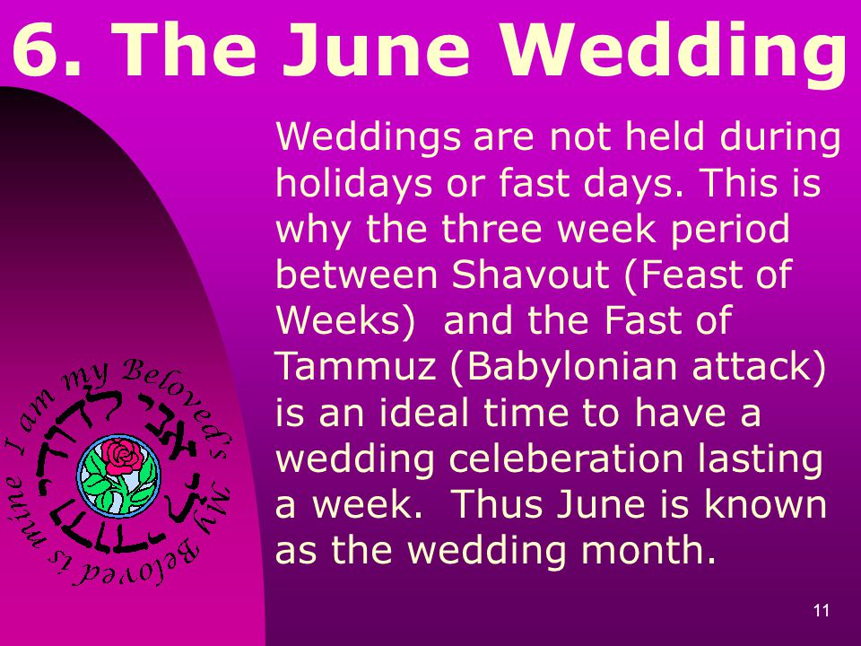 6. The June Wedding