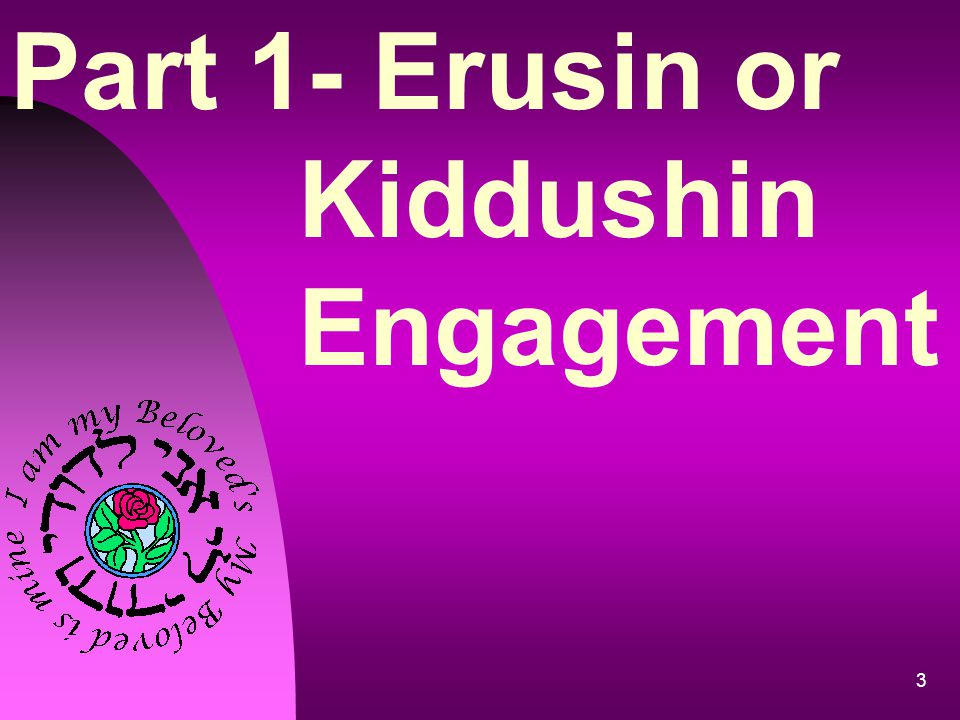 Part 1- Erusin or Kiddushin Engagement
