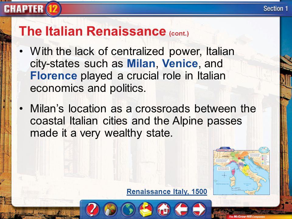 The Italian Renaissance (cont.)