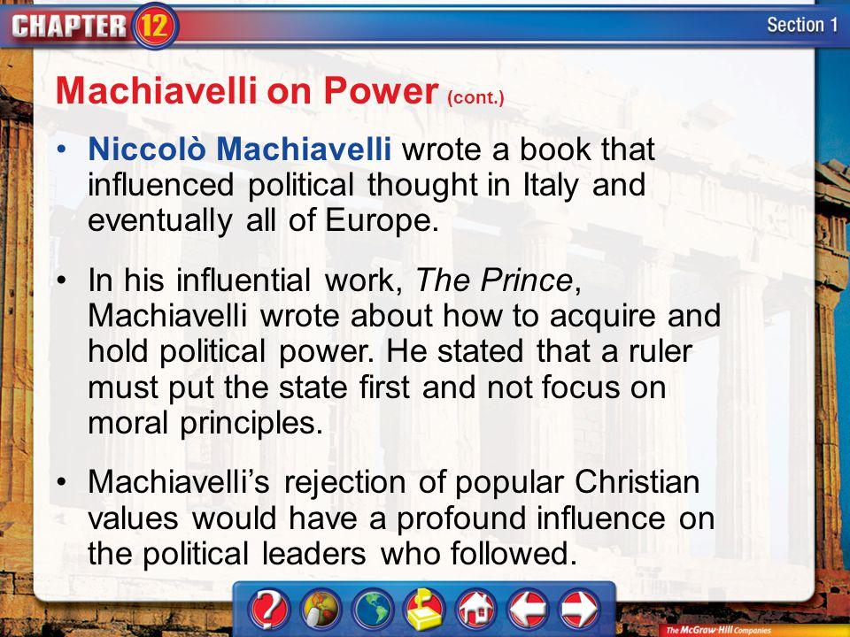 Machiavelli on Power (cont.)