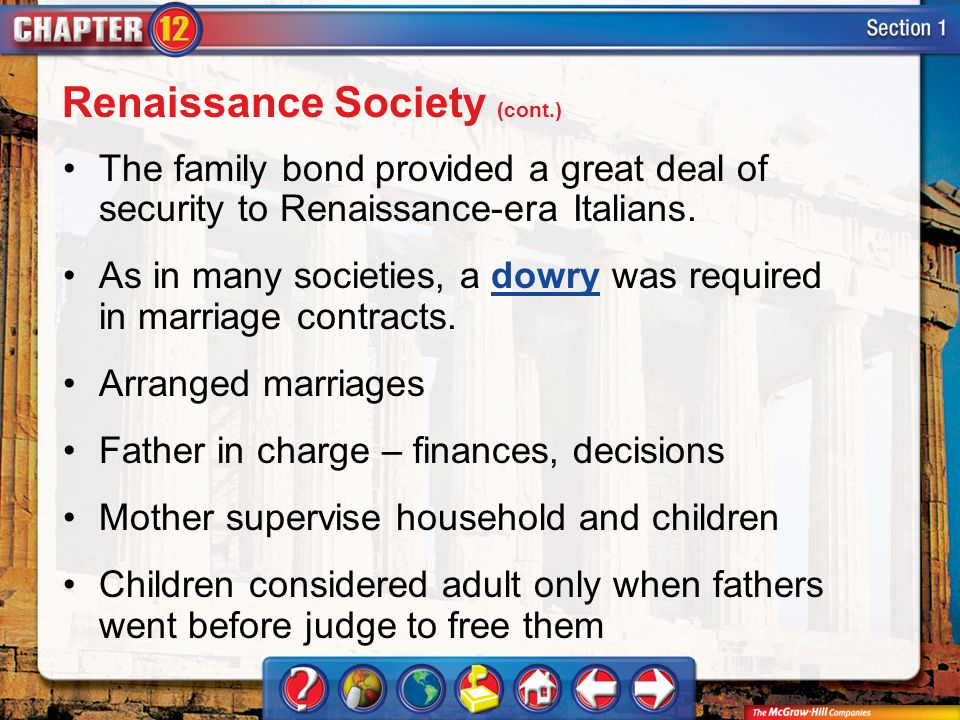 Renaissance Society (cont.)