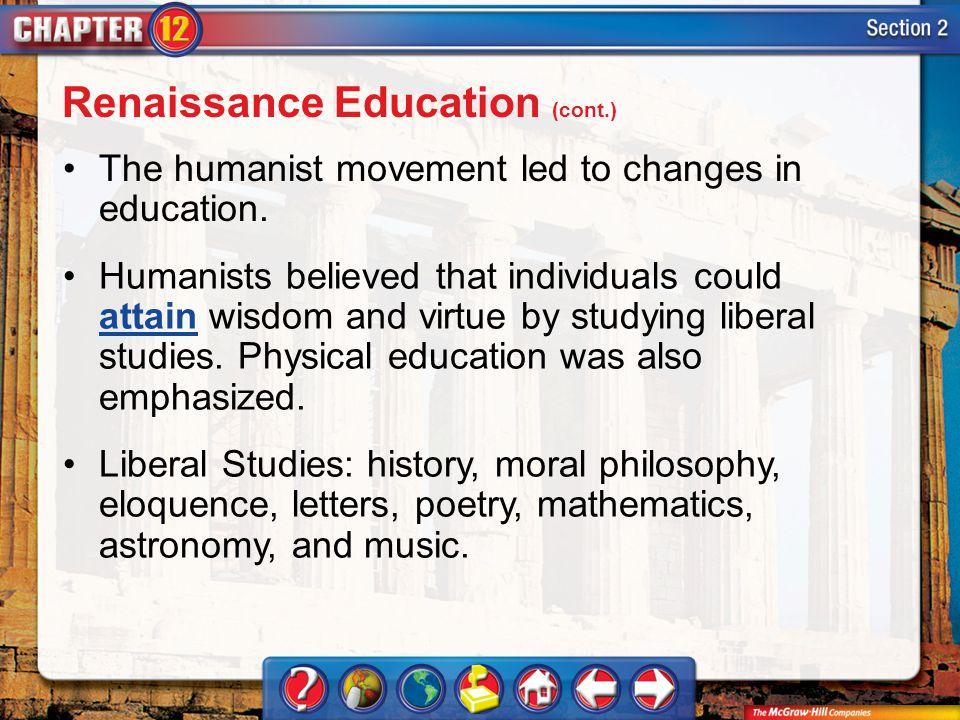 Renaissance Education (cont.)