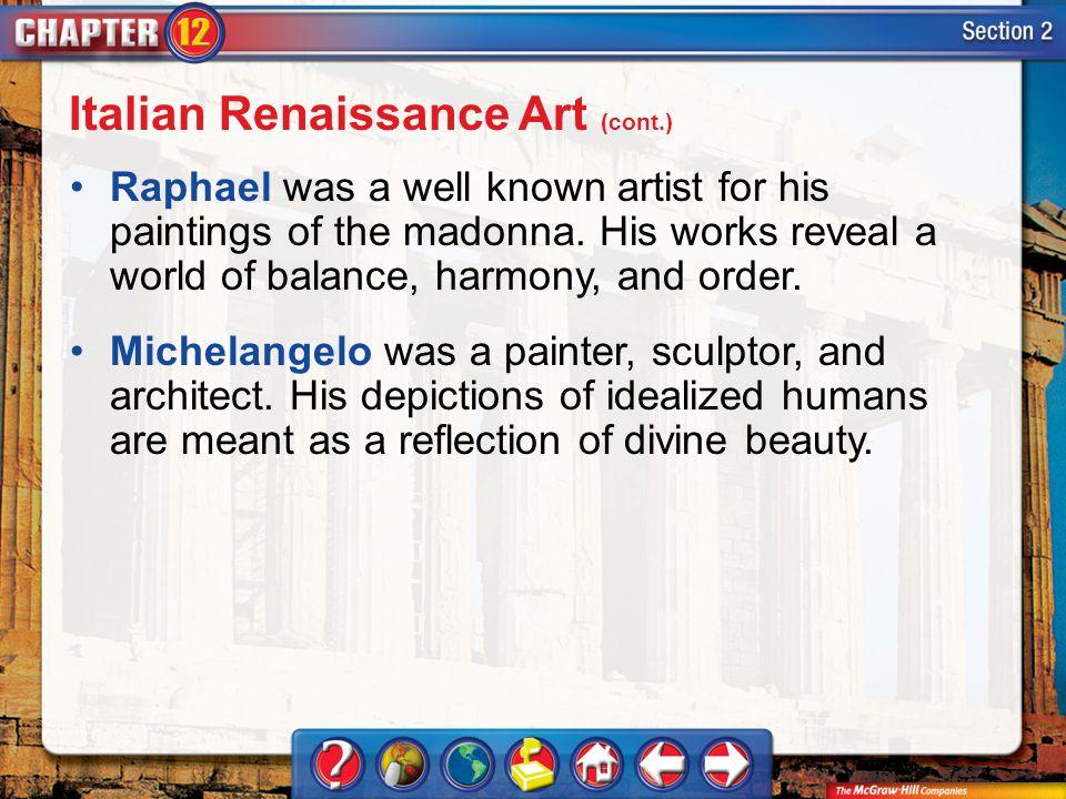 Italian Renaissance Art (cont.)