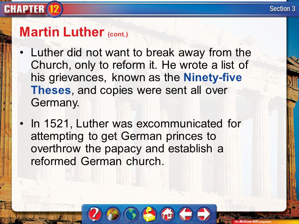 Martin Luther (cont.)