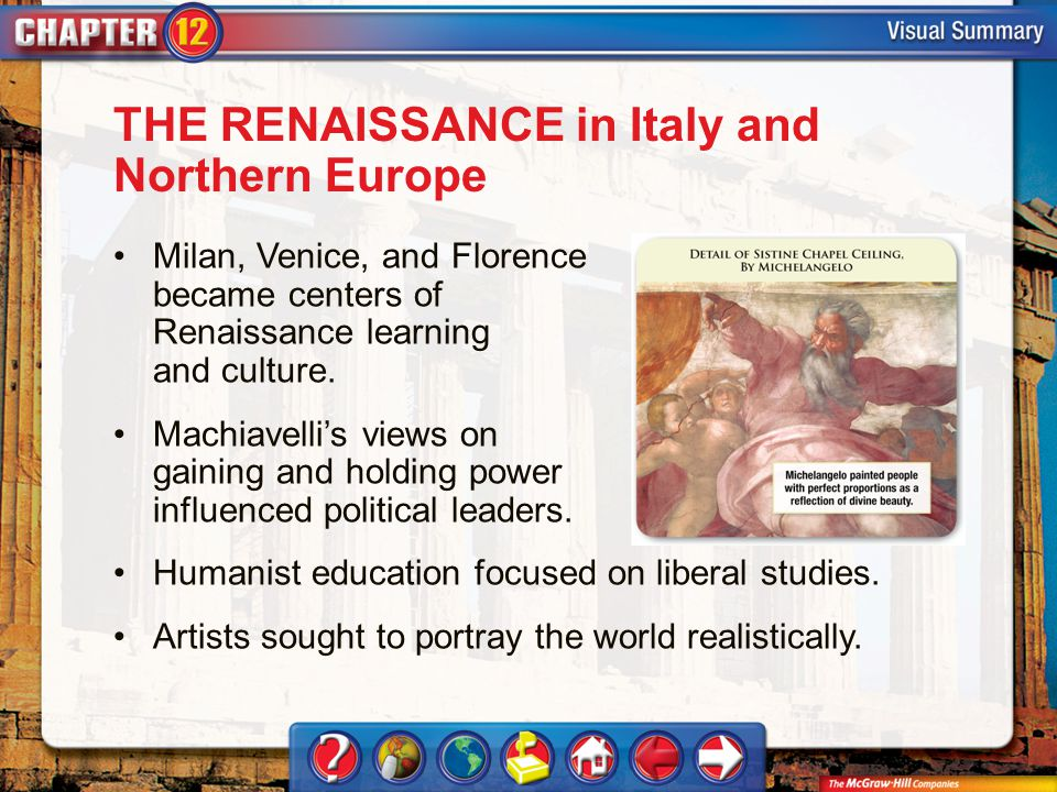 THE RENAISSANCE in Italy and Northern Europe