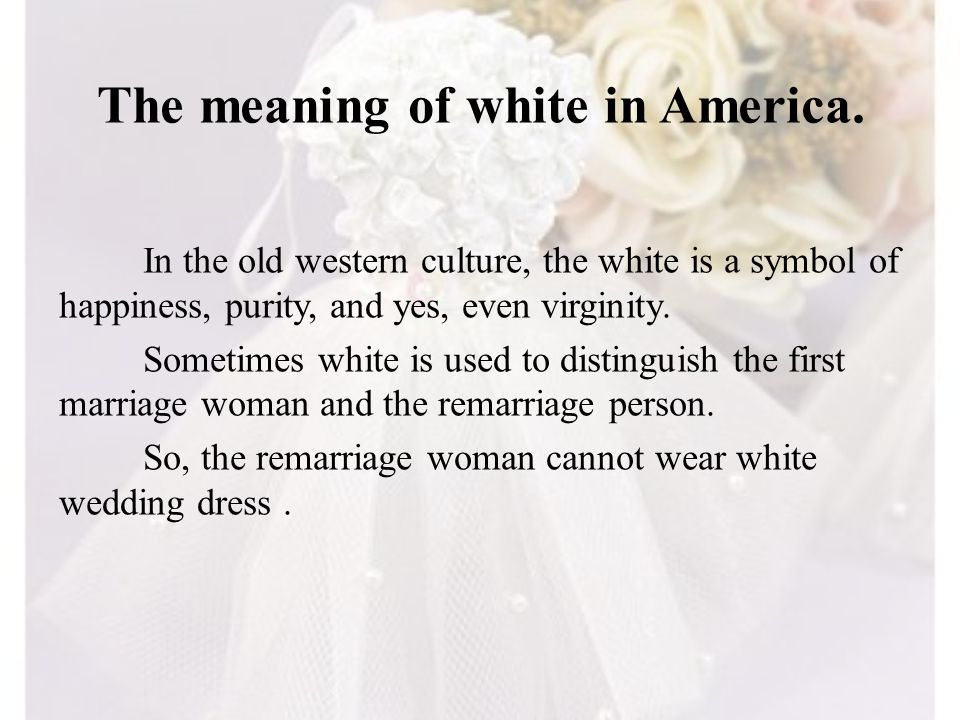 The meaning of white in America.