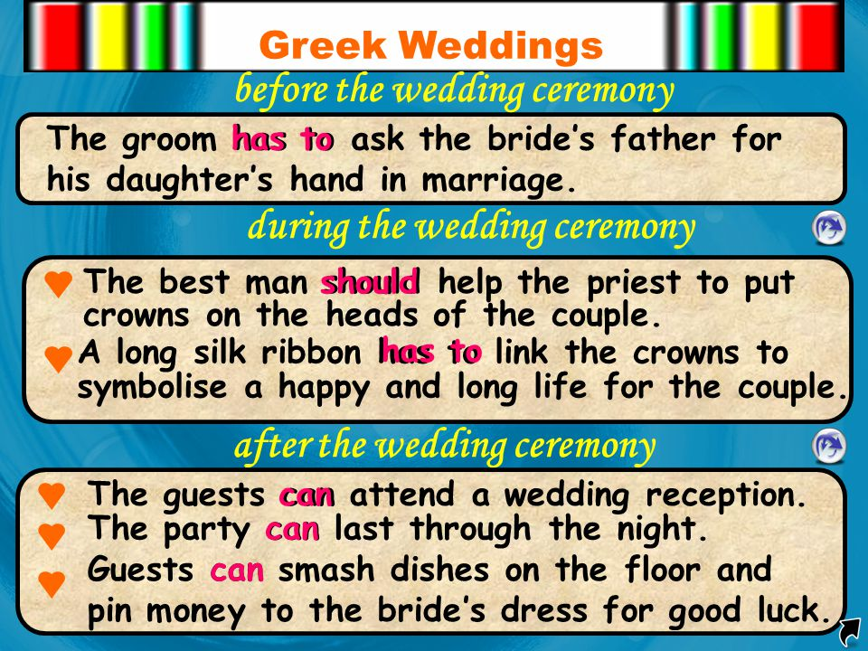 before the wedding ceremony