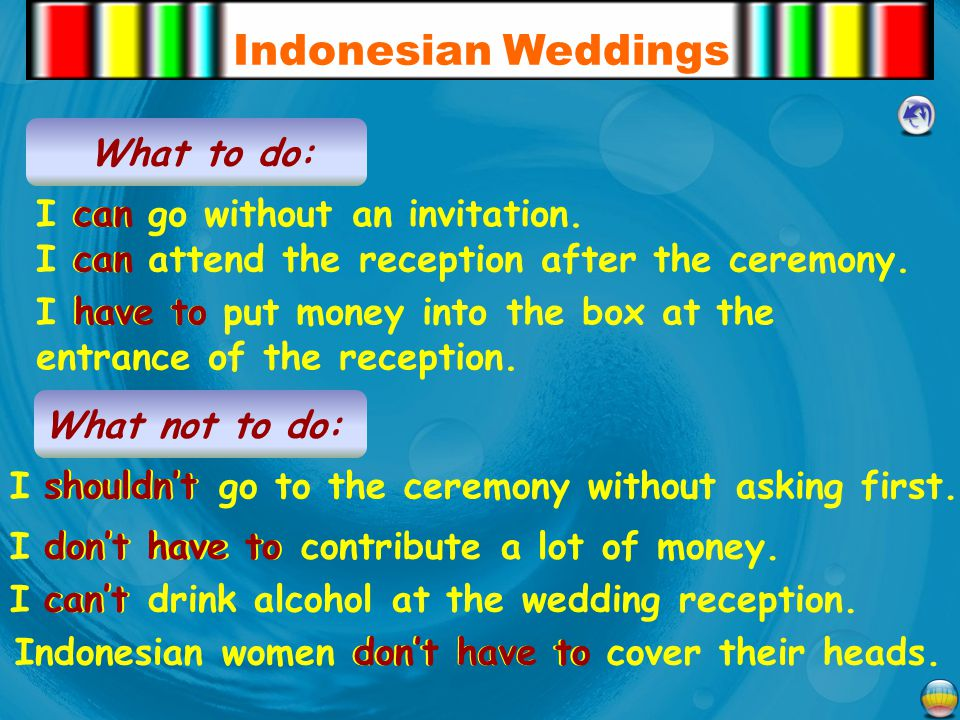 Indonesian Weddings What to do: I can go without an invitation. can