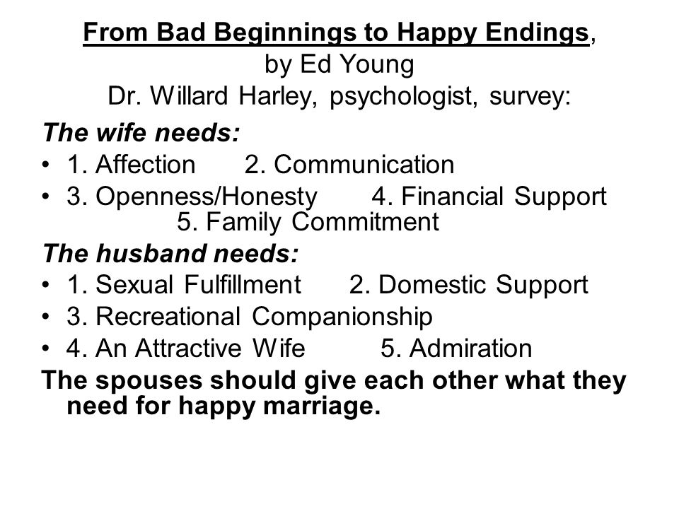 From Bad Beginnings to Happy Endings, by Ed Young Dr