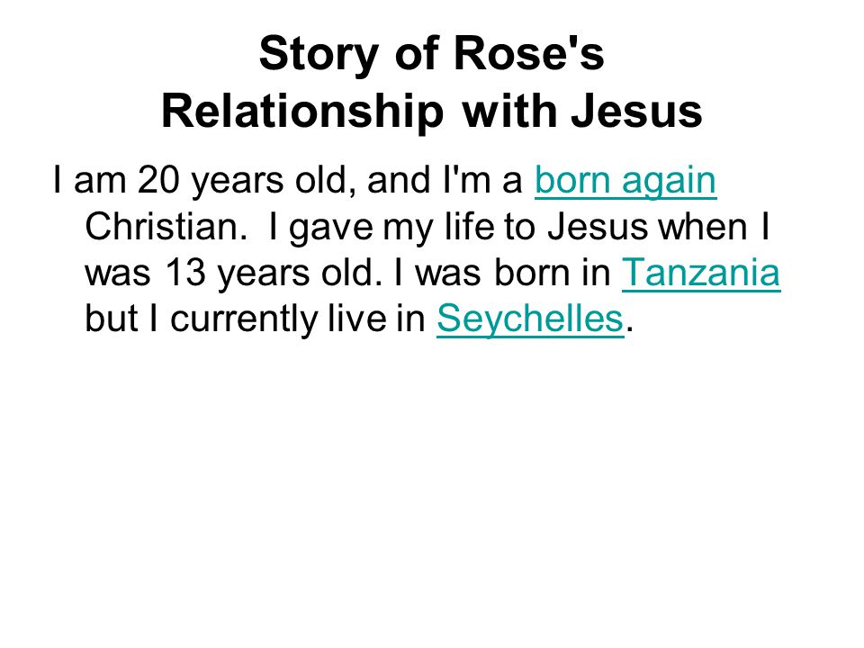 Rose dating a born again christian