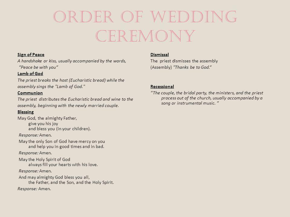 11 Order Of Wedding Ceremony