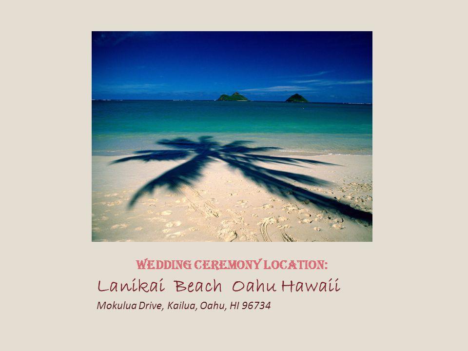 Wedding Ceremony Location:
