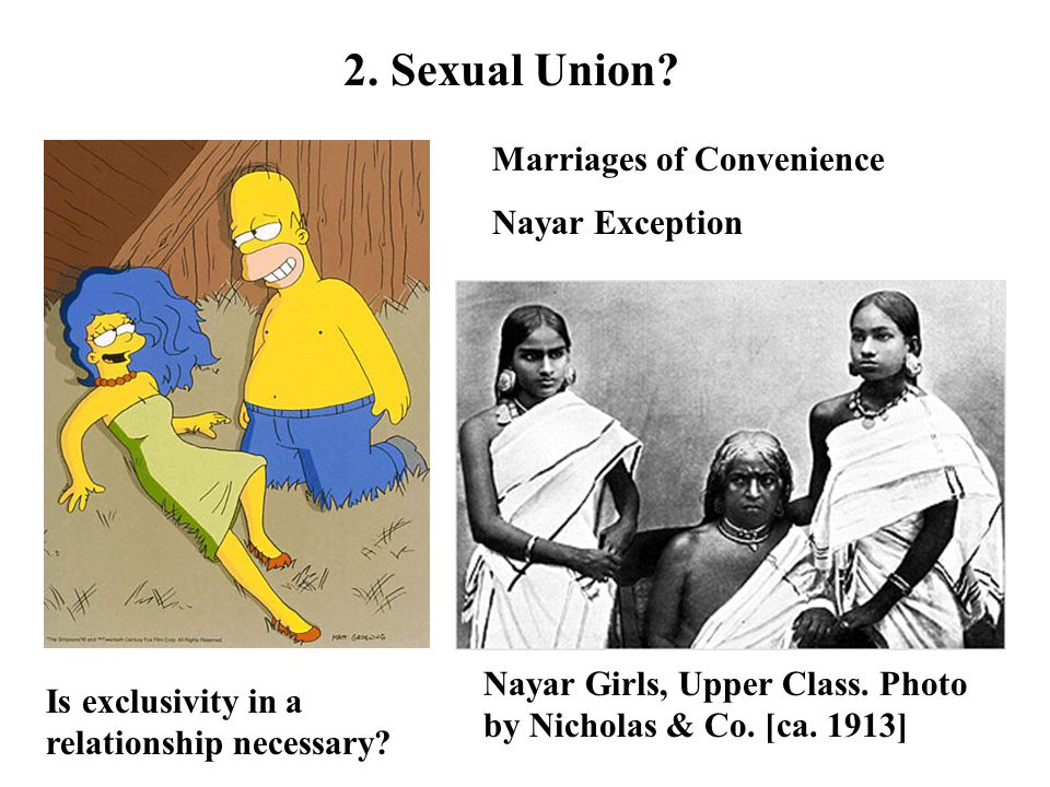 2. Sexual Union Marriages of Convenience Nayar Exception