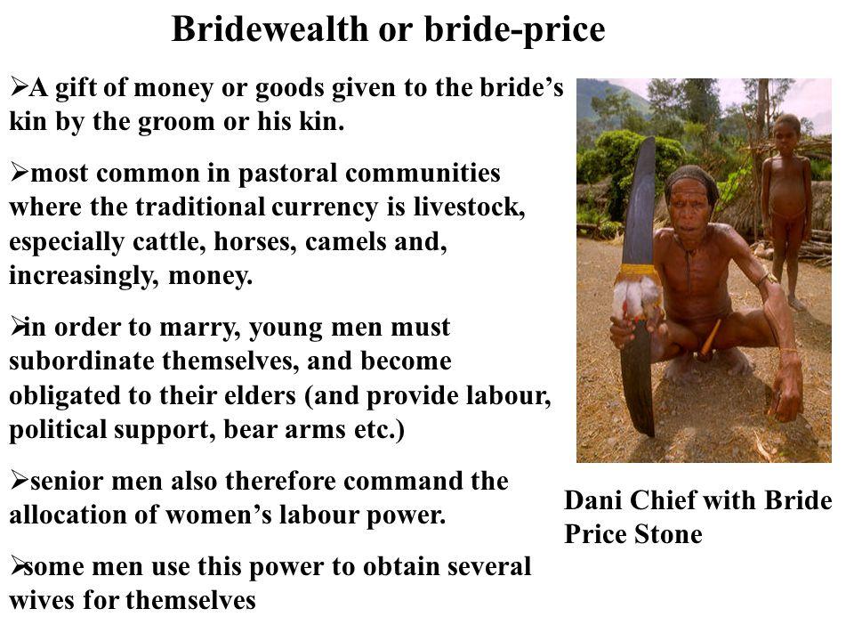 Bridewealth or bride-price