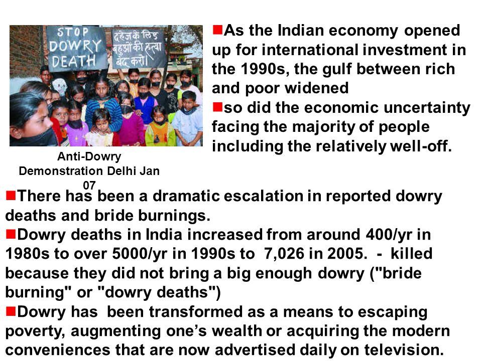 Anti-Dowry Demonstration Delhi Jan 07