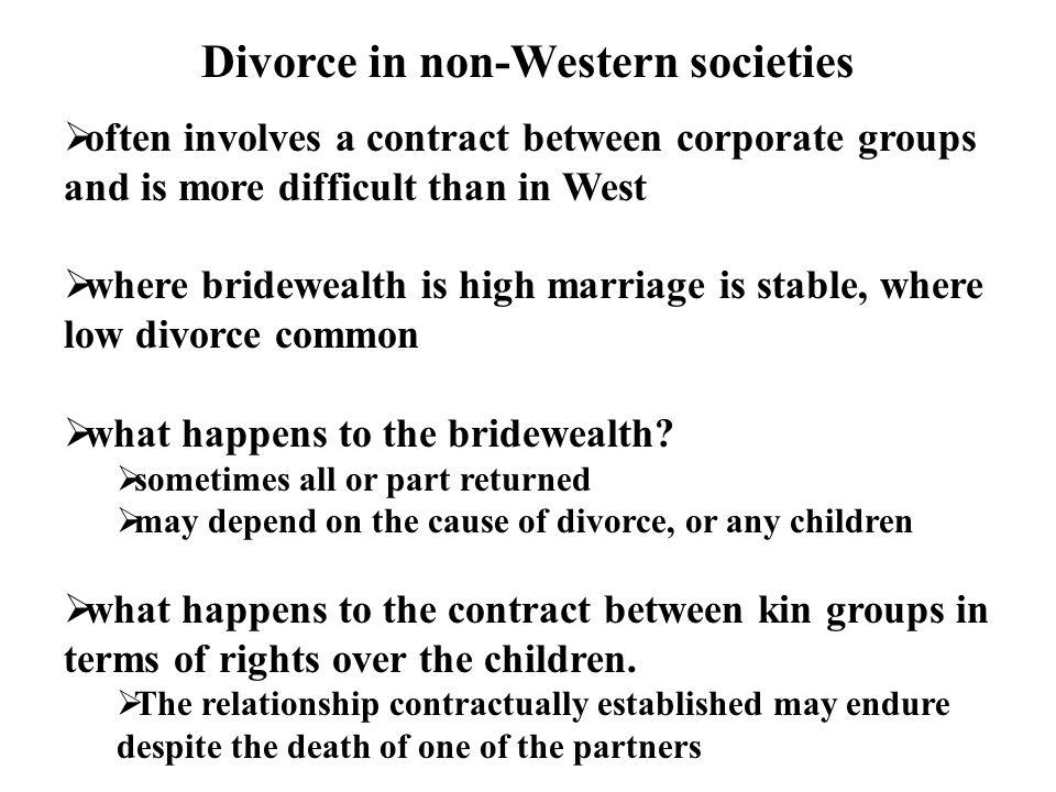Divorce in non-Western societies