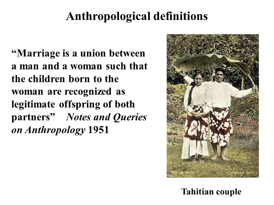 Anthropological definitions