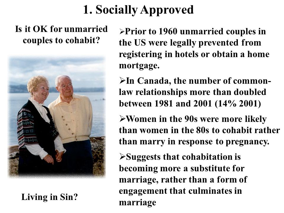 Is it OK for unmarried couples to cohabit