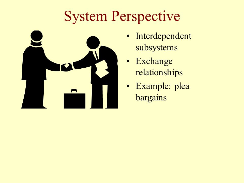 System Perspective Interdependent subsystems Exchange relationships