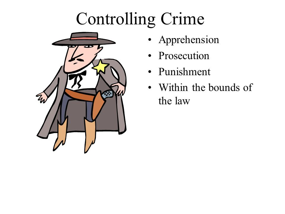 Controlling Crime Apprehension Prosecution Punishment