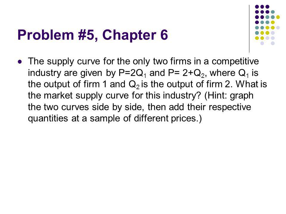 Problem #5, Chapter 6