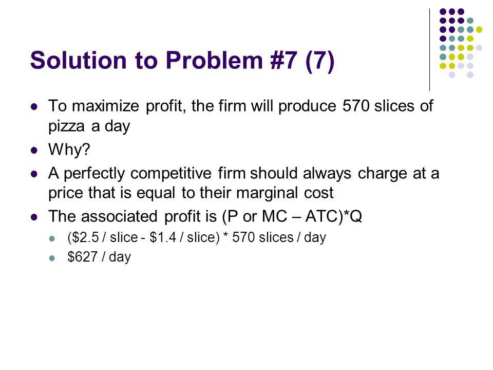 Solution to Problem #7 (7)