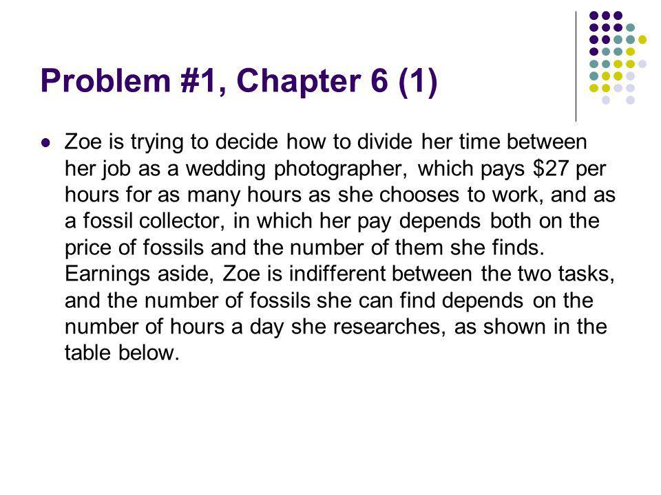 Problem #1, Chapter 6 (1)