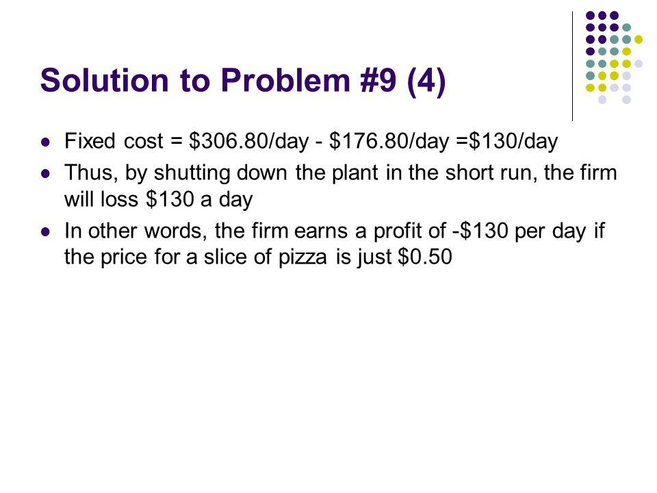 Solution to Problem #9 (4)