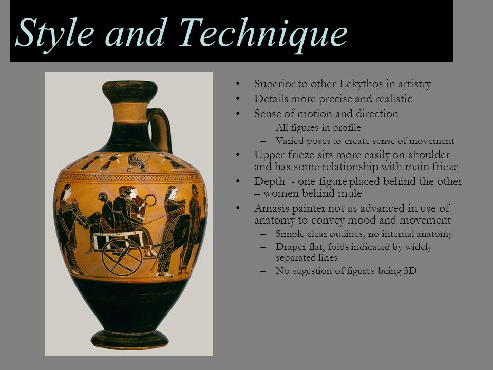 Style and Technique Superior to other Lekythos in artistry