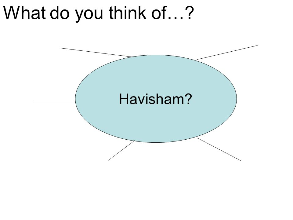What do you think of… Havisham