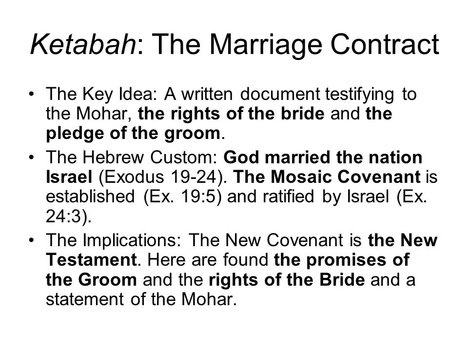 Ketabah: The Marriage Contract