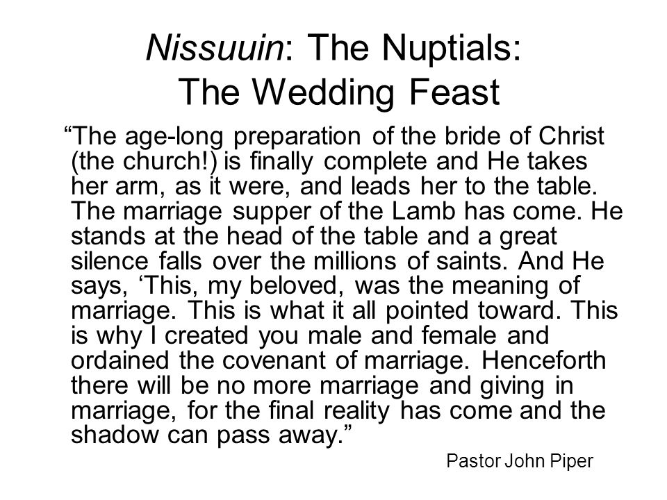Nissuuin: The Nuptials: The Wedding Feast