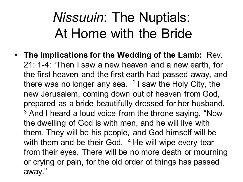 Nissuuin: The Nuptials: At Home with the Bride