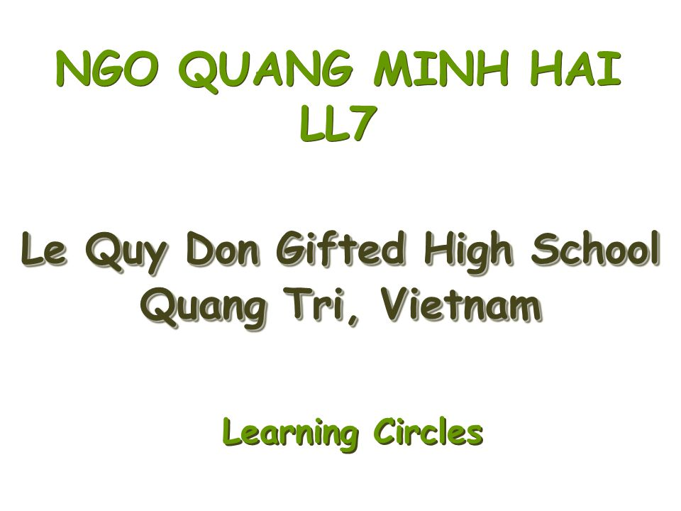 Le Quy Don Gifted High School Quang Tri, Vietnam