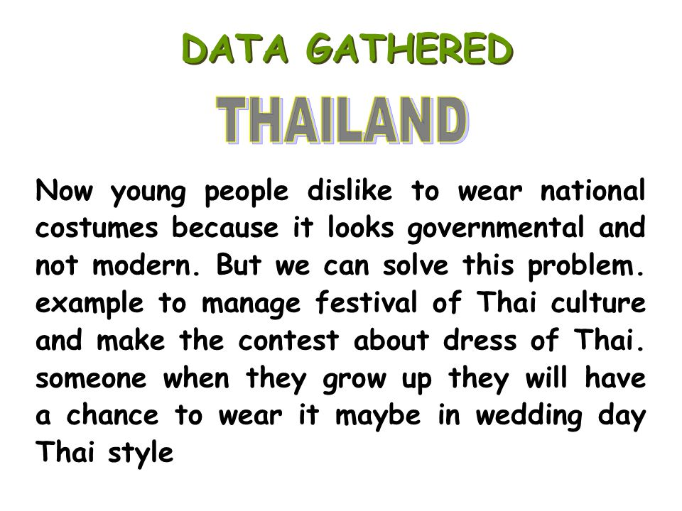 DATA GATHERED THAILAND.