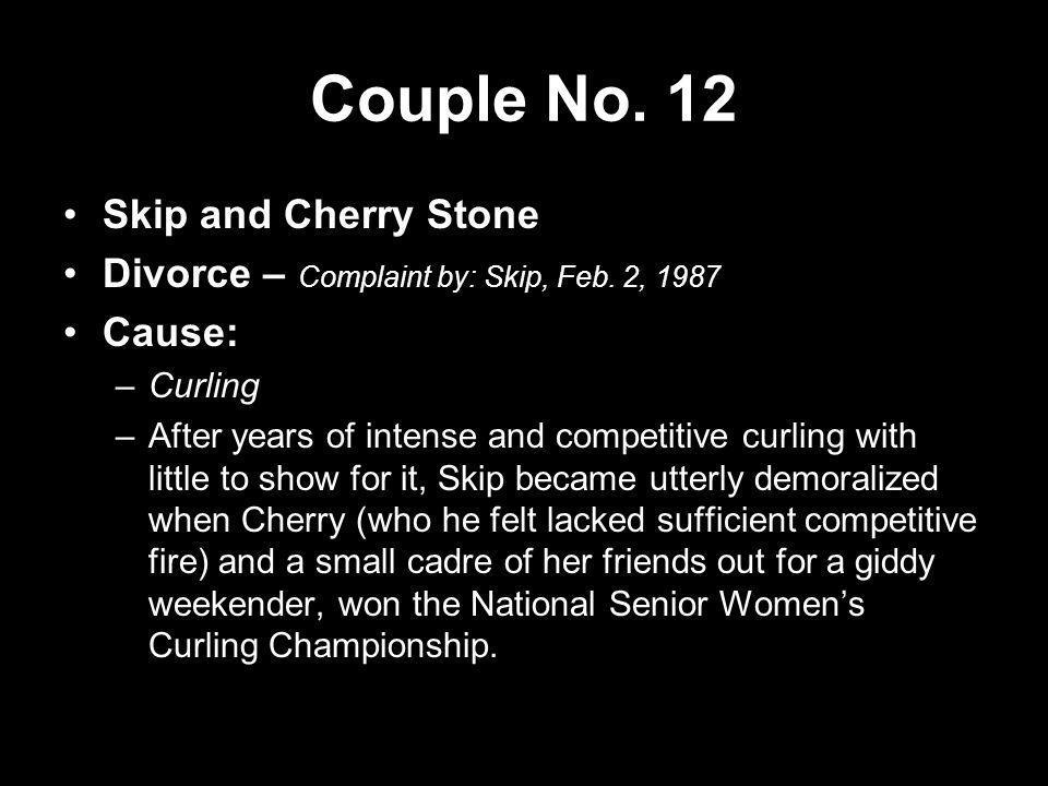 Couple No. 12 Skip and Cherry Stone