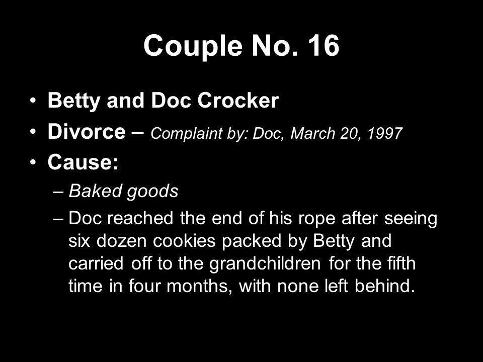 Couple No. 16 Betty and Doc Crocker