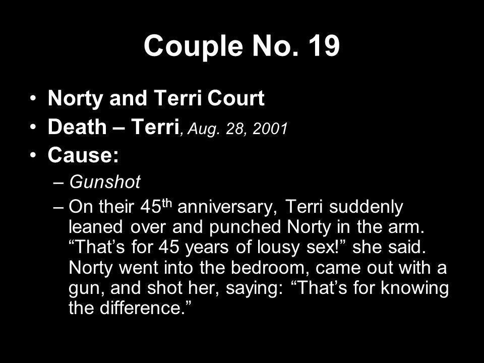 Couple No. 19 Norty and Terri Court Death – Terri, Aug. 28, 2001