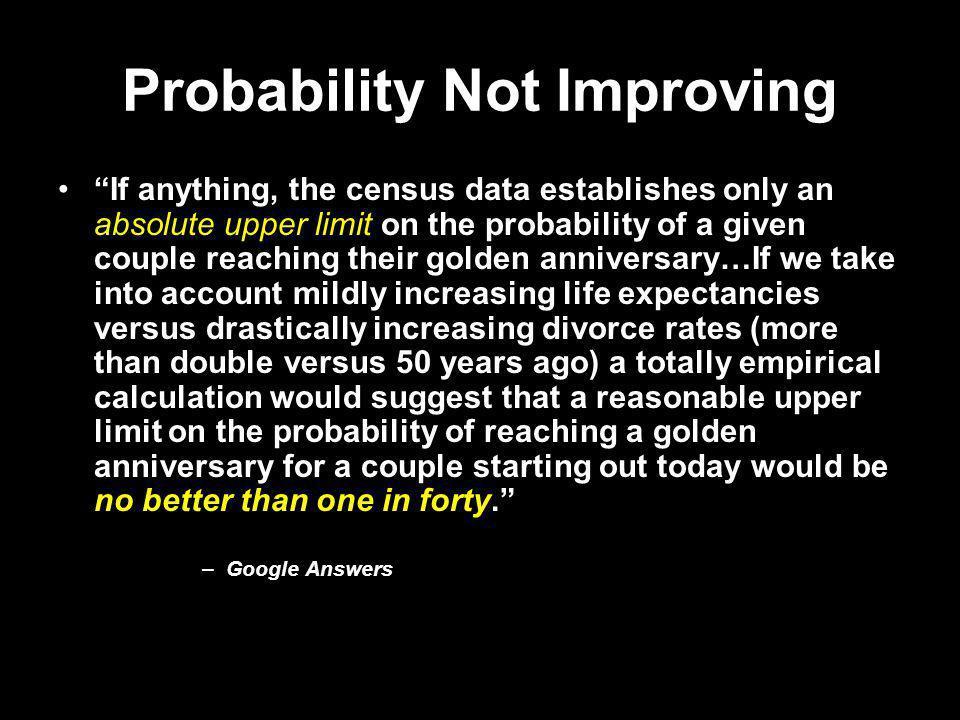 Probability Not Improving