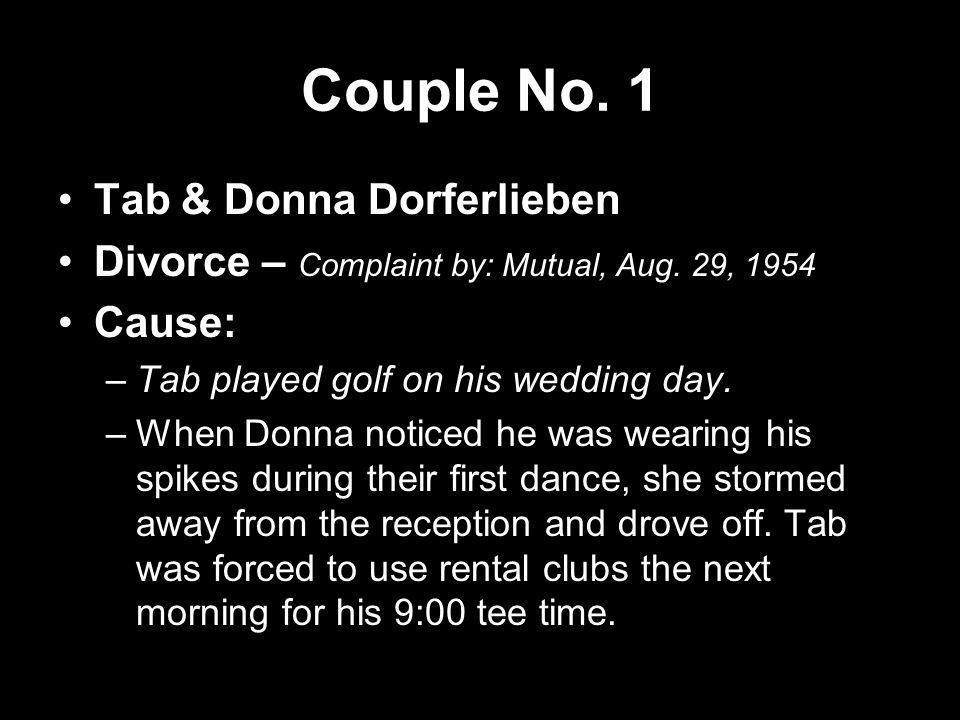 Couple No. 1 Tab & Donna Dorferlieben
