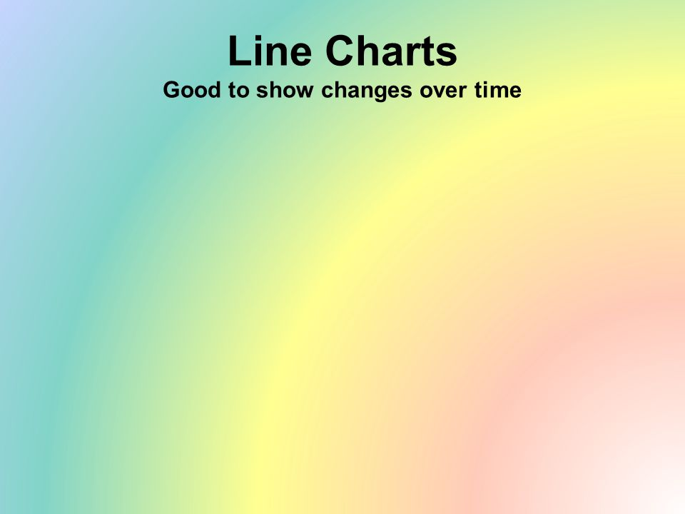 Line Charts Good to show changes over time