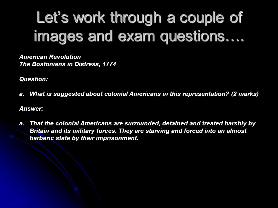 Let's work through a couple of images and exam questions….