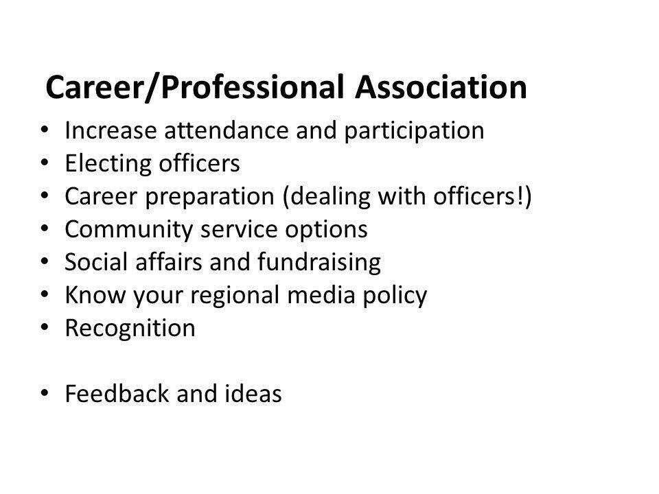 Career/Professional Association