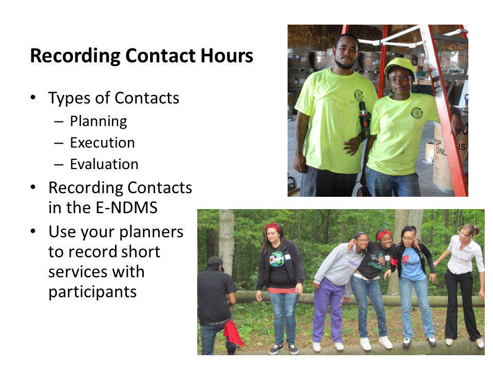 Recording Contact Hours