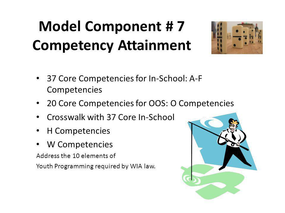 Model Component # 7 Competency Attainment