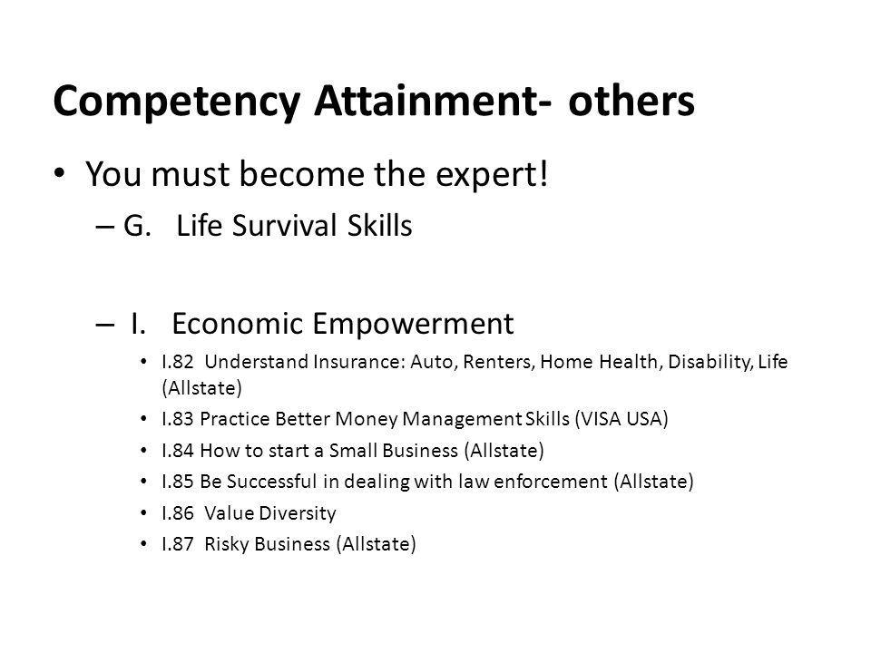 Competency Attainment- others