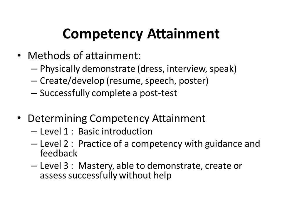 Competency Attainment