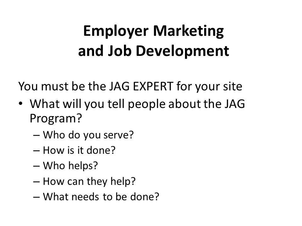 Employer Marketing and Job Development