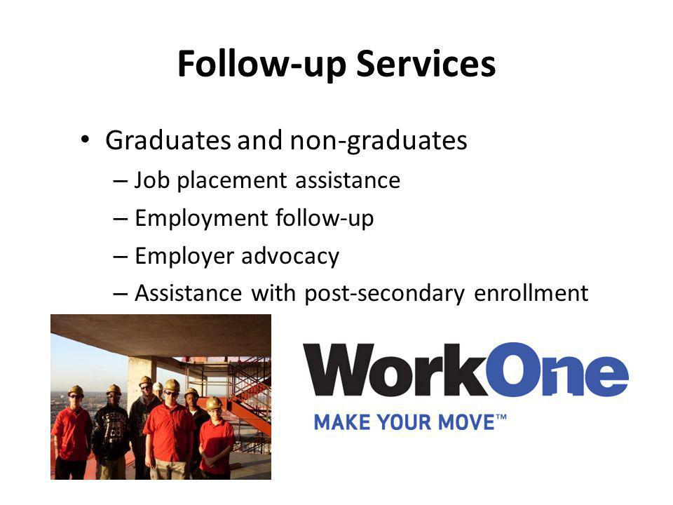 Follow-up Services Graduates and non-graduates